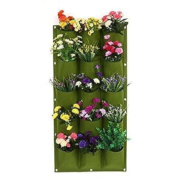 18 15 12 7 Taschen Pflanztasche Garten Balkon Wand Vertikale Blumen