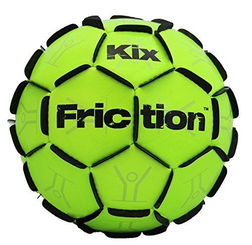 Heavy Duty Soccer Training - The KixFriction Soccer Ball - #1 Selling Soccer Training Ball (Neon Green, Size 5) Awesome Street Soccer Ball Too - Marvel of Design & Craftsmanship