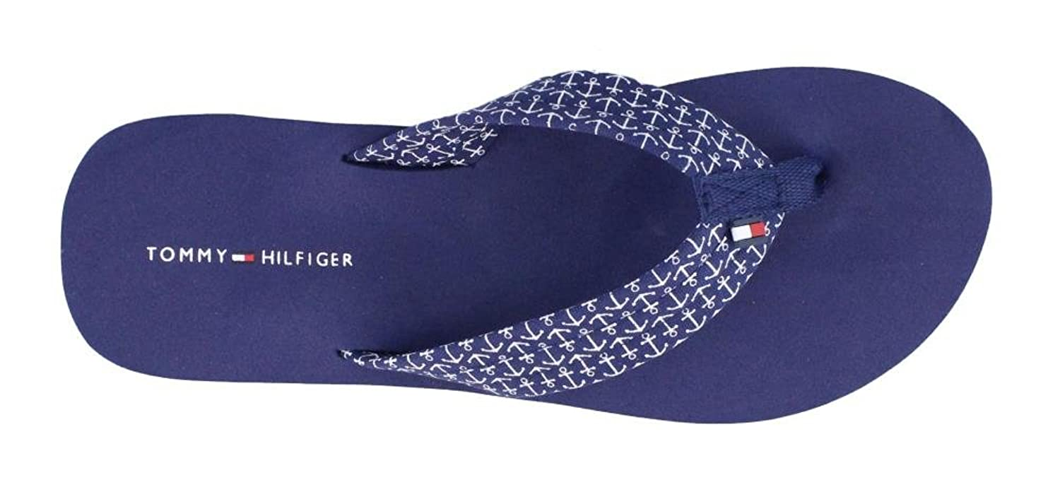 Amazon.com | TOMMY HILFIGER Women's, Ceaweed X Thong Sandals Navy 6 M |  Flip-Flops