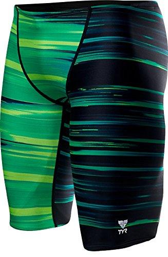TYR Men's Lm Jammer Swimsuit, Green, 34