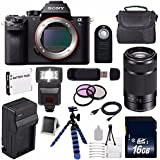 Sony Alpha a7S II a7S Mark II a7SII ILCE7SM2/B Mirrorless Digital Camera (International Model no Warranty) + Sony E 55-210mm f/4.5-6.3 OSS E-Mount Lens (Black) + 49mm Filter Kit 6AVE Bundle 116