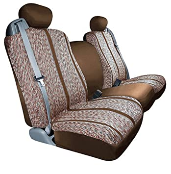 S 029453-02 Saddleman Custom Made Rear Fold-down Jump Seat Cover Saddle Blanket Fabric Brown