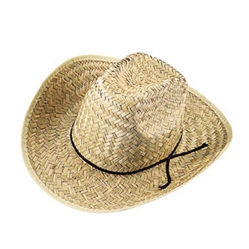 10 X Straw Cowboy Hat - 8