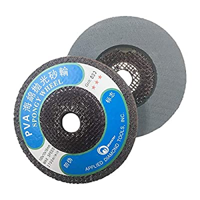 Toolocity HLPVAMS5 4-Inch PVA Marble Polishing Wheel MS Styple, 800 Grit: Home Improvement