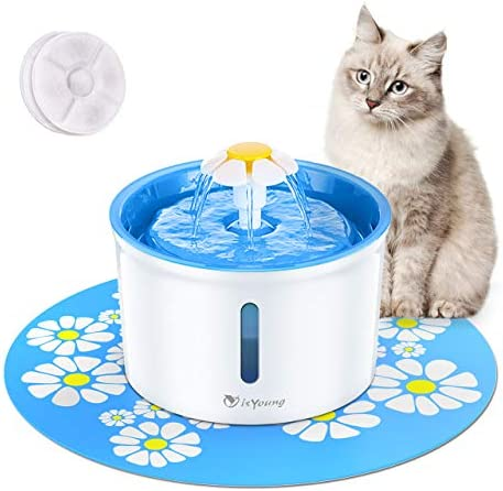 isYoung Cat Fountain 1.6L Automatic Pet Water Fountain Pet Water Dispenser, Dog Cat Health Caring Fountain and Hygienic Dog Fountain