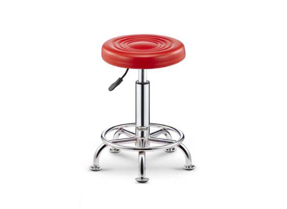 GRJH® バースツール、回転コンピュータバーの美容メディカルメイクアップショップビジネスホール43-58cm 安全性,快適 (色 : 赤) B07D3K48V6赤