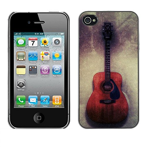 Hülle Case Schutzhülle Cover Premium Case // F00002875 Gitarre // Apple iPhone 4 4S 4G
