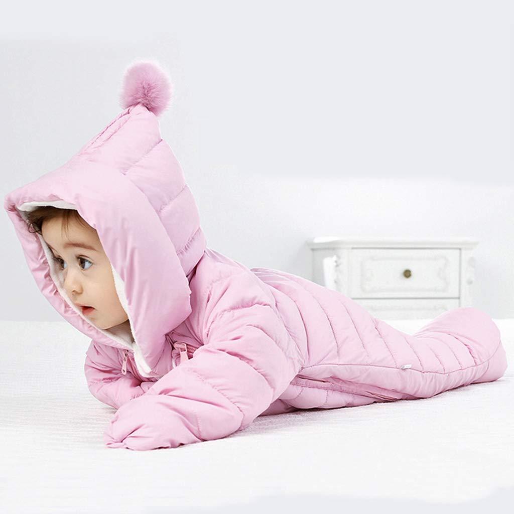 Mameluco con Capucha Ni/ño Reci/én Nacido Chaqueta del Beb/é de Down Traje C/álido para Ni/ñas Ropa de Manga Larga Infantil Invierno Oto/ño