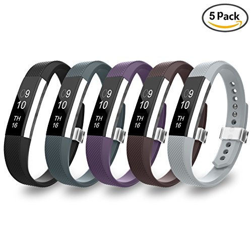 LEEFOX Fitbit Alta Bands, Classic Accessory Band Fit Bit Alta and Alta HR Wristband Watch Buckle Replacement Strap for Original Fitbit Alta 2016/Fitbit Alta HR, 5 Pack - Return Tracker