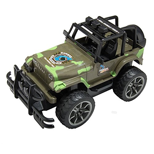 XmasToys Camouflage Remote Control Car Jeep 4WD Shaft Drive Truck Large Four-wheel Drive Super Off-road Racing Toy Radio Controlled RC