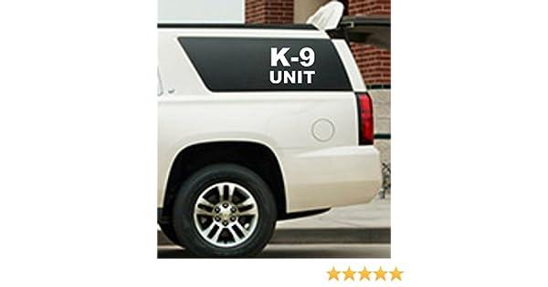 K-9 UNIT DECAL SET Police Dog RED Sticker k9 Police Car Truck Van SUV