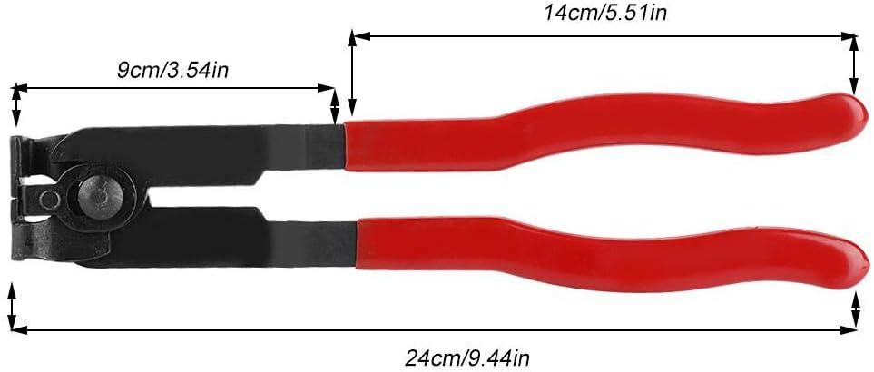 Cut-off Pliers Abrazadera de arranque de junta CV MAGT 1Pc Mango rojo de acero Herramienta de abrazadera de arranque de junta CV Tipo de oreja Profesi/ón Alicates de abrazadera de arranque