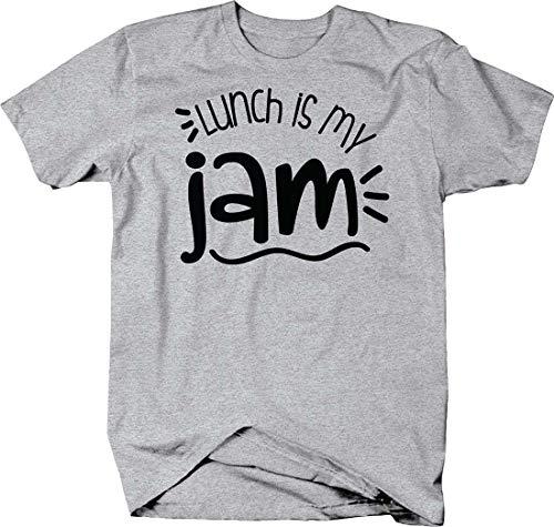 Lunch is My jam Funny Peanut Butter & Jelly Kids School Tshirt 2XL Heather Grey