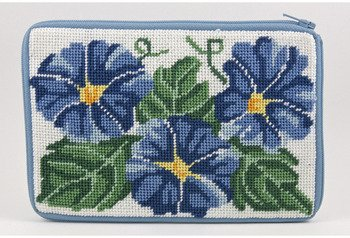 Cosmetic Purse - Morning Glory - Needlepoint Kit by Stitch & Zip