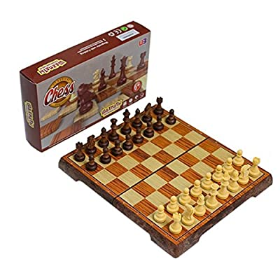 Folding magnetic chess set, with portable cute storage bags for easy carry,2320L