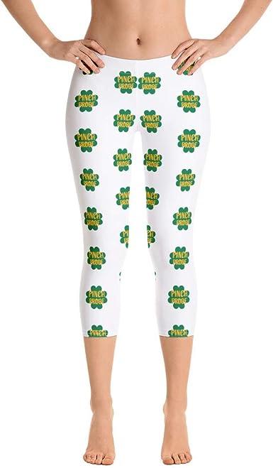 Pinch Proof Women S Capri Leggings Funny St Patty S Day Irish Capri Leggings For Women At Amazon Women S Clothing Store