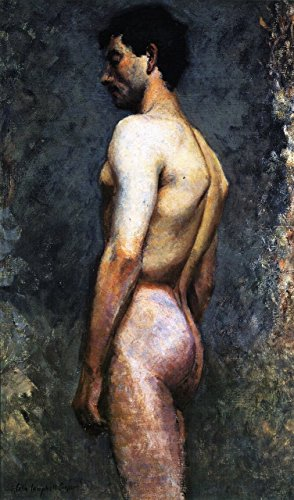 Cutler Miles Nude Male Study by Colin Campbell Cooper Hand Painted Oil on Canvas Reproduction Wall Art. 20x30