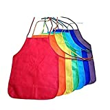 Multicolored Kids Artists Apron Set of 48 Open Back Sleeveless Art Craft Smock Aprons | Children's Assorted Variety Pack of 48 Colorful DIY Protective Reusable Kitchen | Painting Aprons Ages 3 and Up