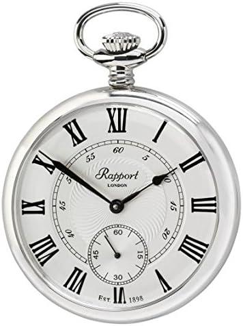 [ラポート]RAPPORT 懐中時計 蓋なし シルバーカラー 手巻き式 PW23 【正規輸入品】