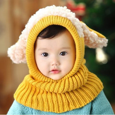 HSE Children's winter models baby cloak cape wool scarf baby puppy warm shawl scarf men and women,Ginger