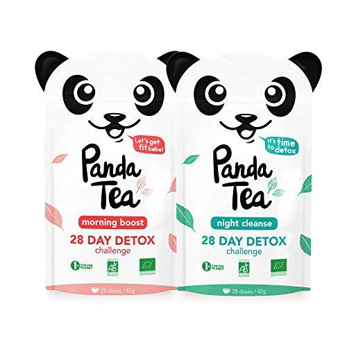 Panda Tea - Organic Cleanse Tea - Detox Tea - Slim Fit - 56 Tea Bags - 28-Day Slimming Detox - Weight Loss