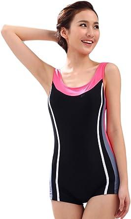 shineflow Women's One Piece Swimsuit Sports Swimsuit Boyleg