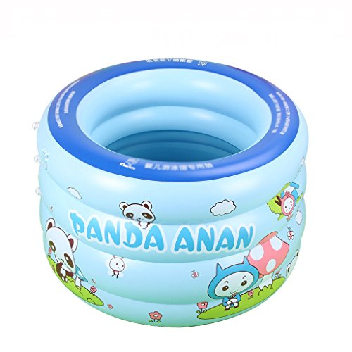 LQQGXL,Bath Infant inflatable pool Children thicken bathtub blue Inflatable bathtub ( Color : Foot pump , Size : 115cm ) by LQQGXL
