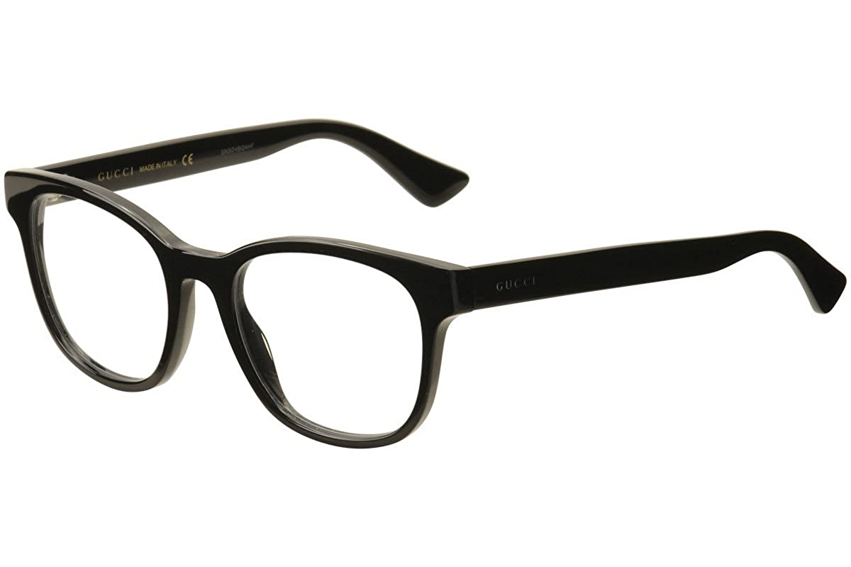 Amazon.com: Gucci GG 0005O 005 Black Plastic Square Eyeglasses 53mm ...