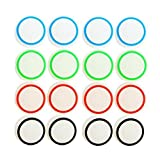 CTYRZCH 8 Pairs/16 PCS Replacement Silicone Analog Controller Joystick Luminous Thumb Stick Grips Caps Cover for PS4 PS3 Xbox One/360 Wireless Controllers