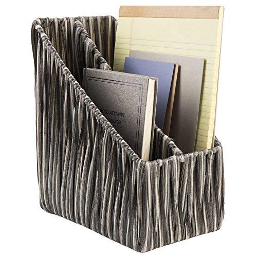 Handmade Magazine (Handmade Woven Desktop File Folder Organizer Stand, 2 Slot Magazine Holder)