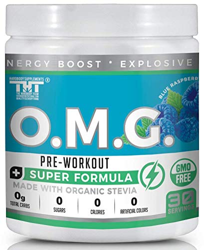 OMG Preworkout Drink for Men and Women with Electrolytes, Organic Caffeine and Organic Stevia Scientifically Crafted Boost Energy, Stamina, Mental Clarity, Focus and Performance