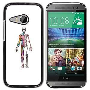 Chirurgien - Metal de aluminio y de plástico duro Caja del teléfono - Negro - HTC ONE MINI 2 / M8 MINI