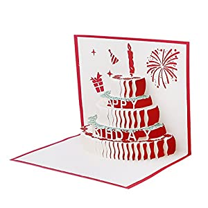 Amazon Com Feamos 3d Pop Up Birthday Card Stereoscopic Birthday