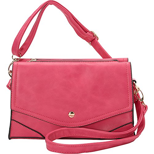 ashley-m-fashion-double-flap-leather-convertible-shoulder-bag-fuchsia