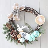 Convinced Wreath Hangers,Home Décor Accents,30cm Christmas Wreath Holiday Festival Decor Garland Decoration