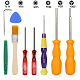 E.Durable Game Consoles Screwdriver Kit for Nintendo Switch New 3DS Wii Wii U NES SNES DS Lite GBA Gamecube and More, Security Screw Driver Gamebit Set with Full Triwing Screwdriver Repair Tool