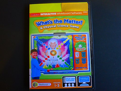 Software Whiteboard (Lakeshore Interactive Whiteboard Software:Whats Matter Science Game Grade 1-3)
