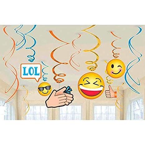 Emoji Lol Hanging Swirl Decorations Birthday Jpg 466x466 Iphone Emojis Party Supplies