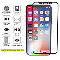 iPhone X Screen Protector, ( 2 Packs) [Full Coverage Soft Edge] Fedciory iPhone X Tempered Glass Screen Protectors [3D Touch] Anti-Scratch Anti-Fingerprint Bubble by Fedciory