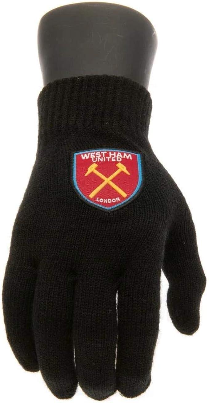 West Ham United FC Herrn Strickhandschuhe mit Klub Wappen