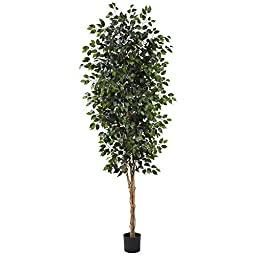 Nearly Natural 5427 Ficus Tree with 1512 Leaves, 8-Feet