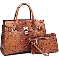 Women Handbag Designer Purse Fashion Ladies Shoulder Bag Top Handle Satchel Bag 2 Pieces Set