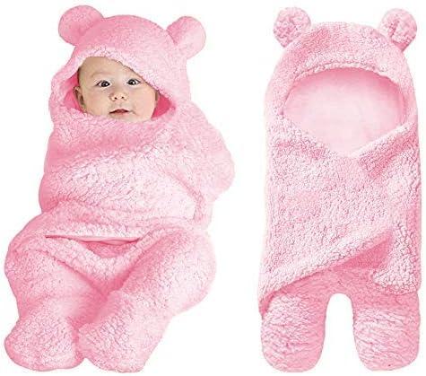 Manta para beb/é reci/én nacido para saco de dormir de 0 a 12 meses rosa rosa