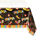 Amscan Fiesta Fun Cinco De Mayo Party Rectangular Table Cover Tableware, Paper, 54'' x 102'' Childrens Tablecovers (6 Piece)