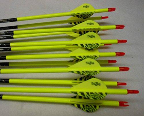Gold Tip XT Hunter 5575/400 Carbon Arrows w/Blazer Vanes Wraps - Black 5575 Hunter Arrows
