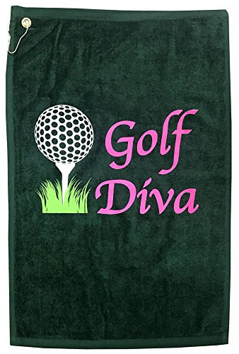 Giggle Golf Golf Diva Golf Towel - Hunter Green ()