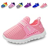 LINE BLUE Pure Color Kids Shoes Breathable Sneakers for Autumn and Winter Fashion Slip-on(Toddler/Little Kid) QDTX01,pink,26