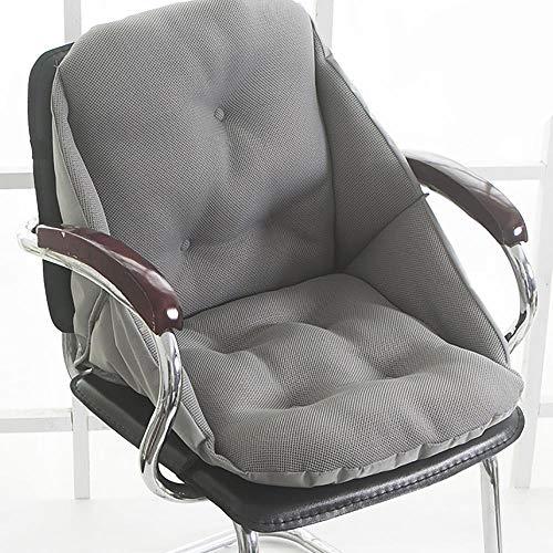 XJINXIU Funda extraíble y lavable 1 Ideal para respaldo en la cama, Silla de oficina, sofá y más 2 diseños de revestimiento independientes, cubierta extraíble, Gray, 424848cm]()