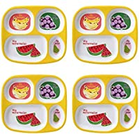 4-Pack Mainstays Kids Melamine Divided Plates (Multiple Prints)