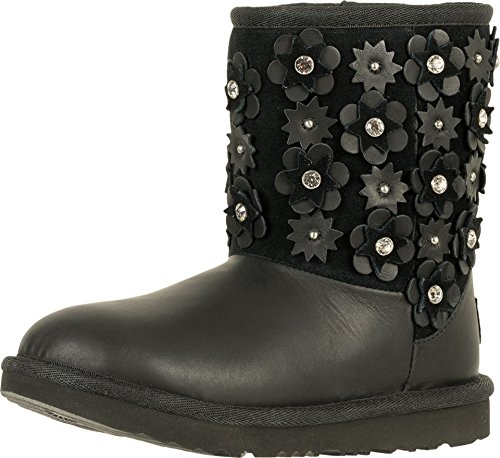 UGG Kids Girl's Classic Short II Petal (Little Kid/Big Kid) Black 1 M US Little Kid by UGG